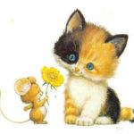 кот и мышка