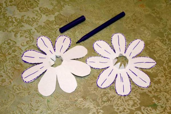 Готовые заготовки бумажных цветов