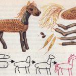 Лошадка из шишки (схема поделки)