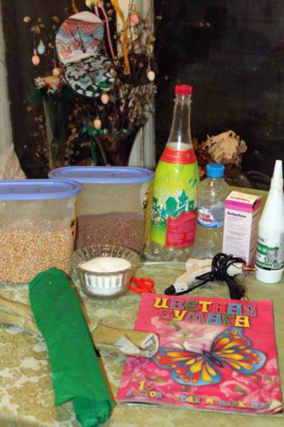 Материалы и инструменты для маракаса