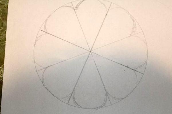 Рисунок заготовки цветка (для украшения поделки)
