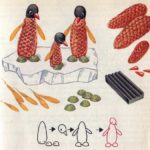 Семья пингвинов (схема поделки)