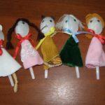Куклы на пластиковых ложках
