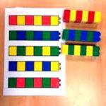 Разноцветные столбики