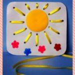 Солнышко (панно для шнуровки)