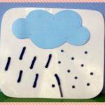 Тучка и дождик (панно для шнуровки)