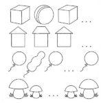 Задание «Нарисуй пропущенную фигуру» на логику»