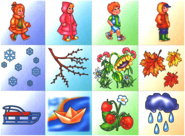 Картинки для игры «Какое время года?»