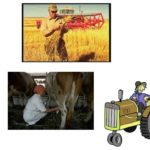 Сельский труд (коллаж)