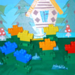Цветочная поляна из Лего-конструктора