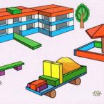 Схема для конструирования «Детский сад» из строительного материала