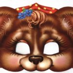 Заготовка для маски девочки-мишки