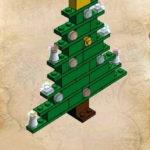 Схема для конструирования «Ёлочка» из Лего-конструктора