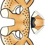 Выкройка для объёмной маски гепарда