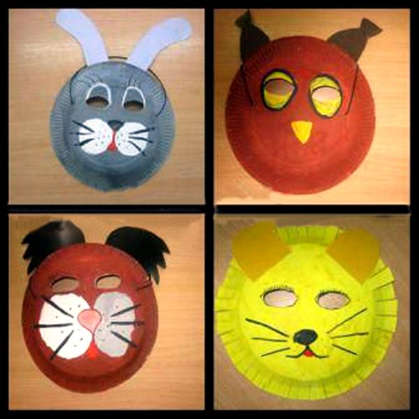 Готовые маски из одноразовых тарелок
