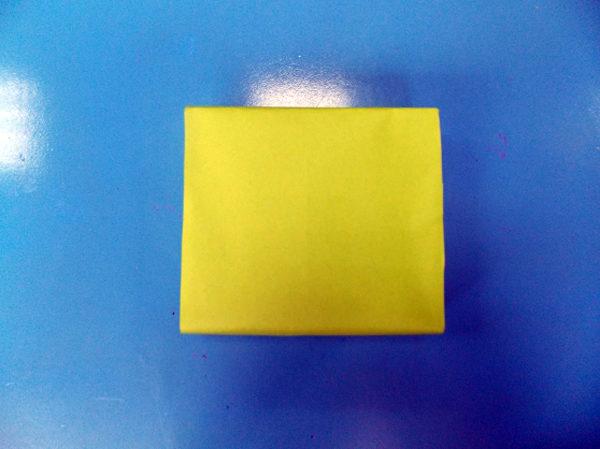 Заготовка, обклеенная цветной бумагой