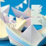 Кораблики из бумаги, выполненные в технике оригами