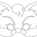 Шаблон для маски котёнка