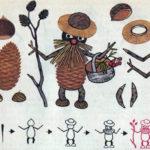 Схема для конструирования «Лесной человечек» из природного материала