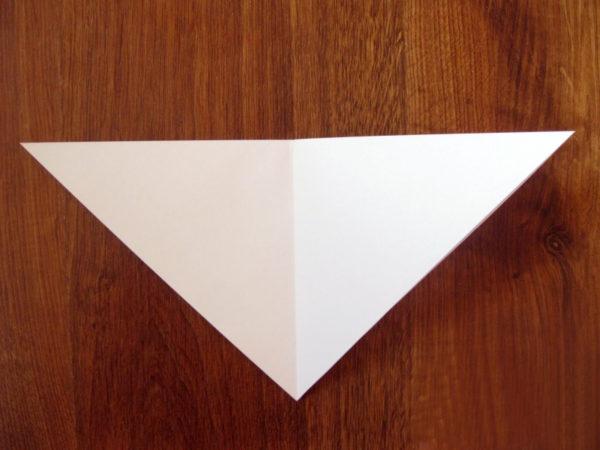 Треугольник с линией сгиба