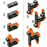Схема для конструирования «Лошадка» из Лего-конструктора