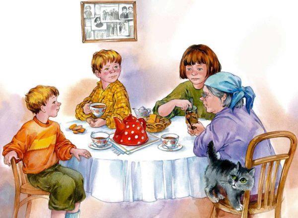 Иллюстрация к рассказу Осеевой «Печенье»