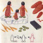Схема для конструирования «Пингвины на льдине» из природного материала
