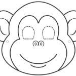 Шаблон для маски обезьянки