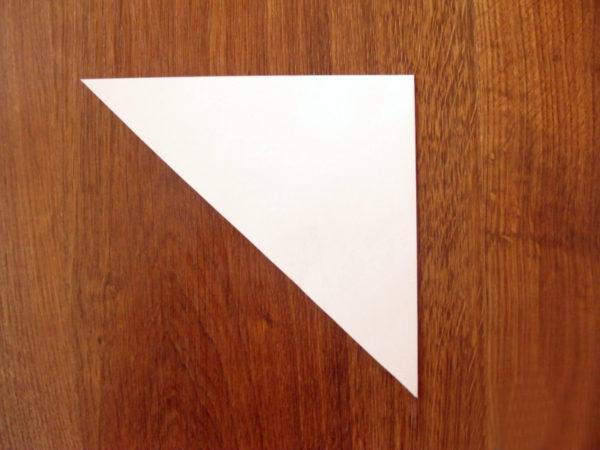 Сложенный пополам треугольник