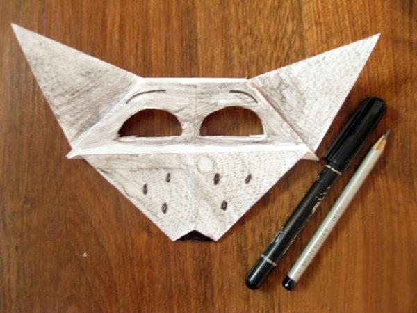 Тонирование маски простым карандашом