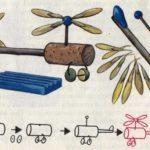 Схема для конструирования «Вертолёт» из природного материала