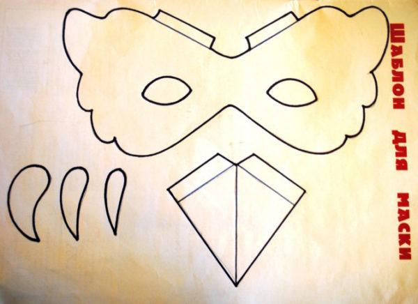 Шаблоны деталей для карнавальной маски птицы