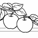 Шаблон для маски с яблоками
