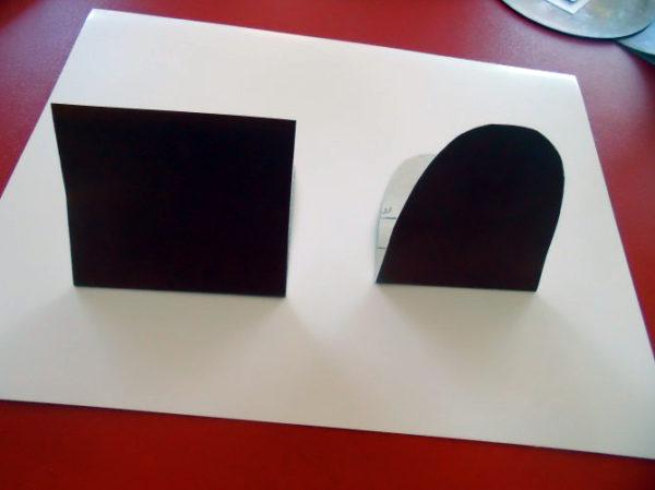 Заготовка для шасси из черного картона