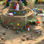 Замок для принцессы из песка
