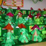 Новогодние ёлочки, выполненные из бумаги
