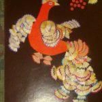 Жар-птица из карандашной стружки