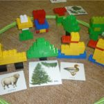 Баран, деревья и утки из конструктора