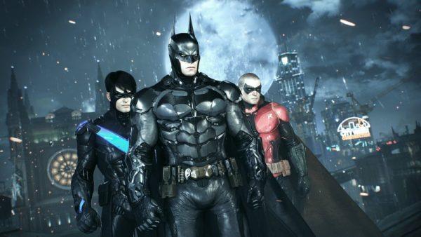 Бэтмен на фоне города