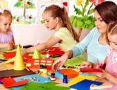 дети занимаются ручным трудом