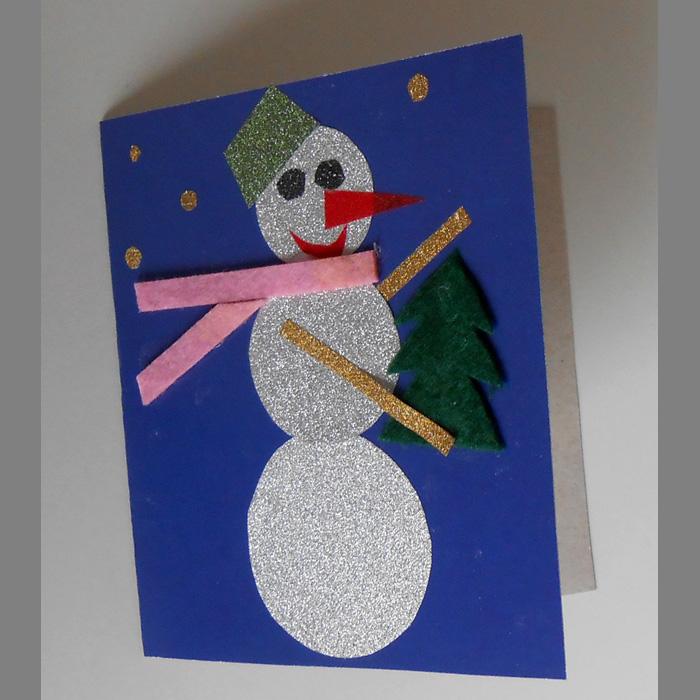 Днем рождения, новогодняя открытка для детского сада