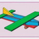 Схема постройки самолёта из строительного материала