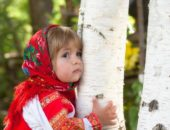 girl_child_summer_wood_birch_dress_russia