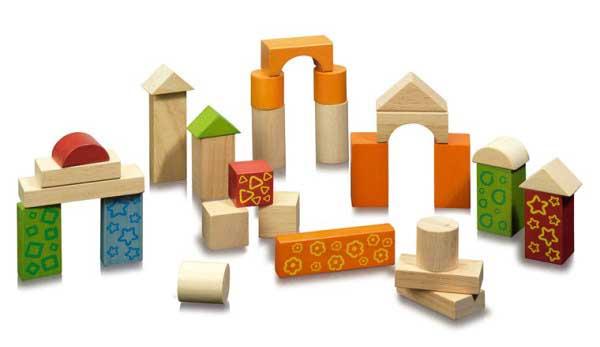Башенки и арки из деревянного конструктора