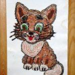 Котенок из карандашной стружки