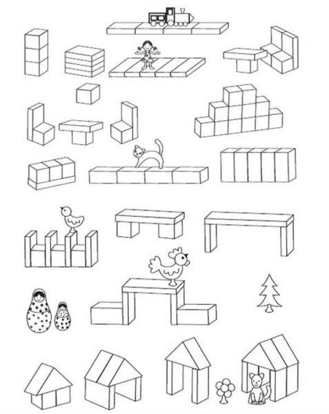 Схемы построек из строительных наборов