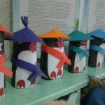 Пингвины из картона
