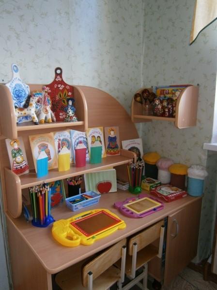 Художественный уголок в детском саду