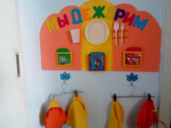самодельный уголок дежурства в детском саду