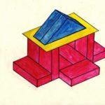 Схема деревянного домика